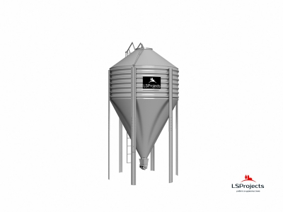 Силос для хранения кормов BigBank 15 м3