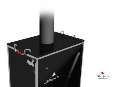 Установка крышки для Кормового автомата Step B+ 2х1