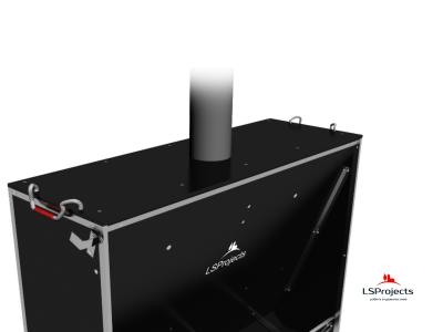 Установка крышки для Кормового автомата Step B+ 4х1