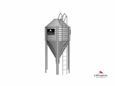 Бункер для хранения кормов BigBank 9 м3