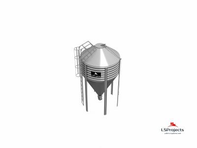Силос для зерна и комбикорма BigBank 15 м3