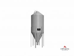 Силос для хранения кормов BigBank 35 м3