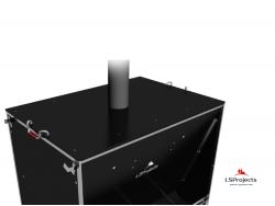 Установка крышки для Кормового автомата Step B+ 4х2