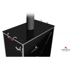 Установка крышки для Кормового автомата Step C 2х1