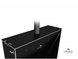 Установка крышки для Кормового автомата Step C 4х1