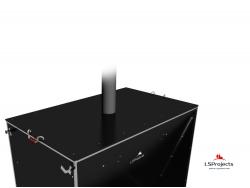 Установка крышки для Кормового автомата Step C 4х2