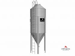 Бункер для хранения кормов BigBank 19м3