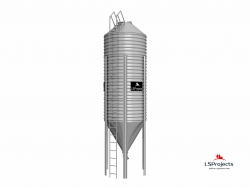 Бункер для хранения кормов BigBank 25