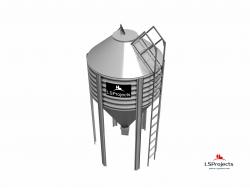 Силос для зерна и комбикорма BigBank 9 м3